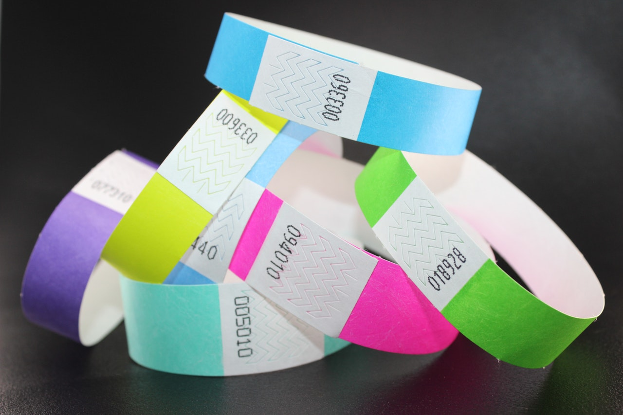 selection of wristbands
